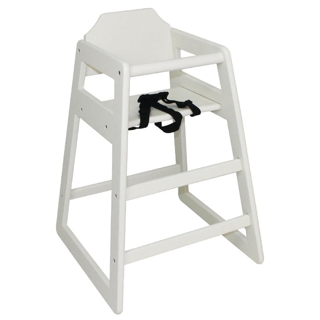 Bolero Wooden Highchair (Antique White)-0