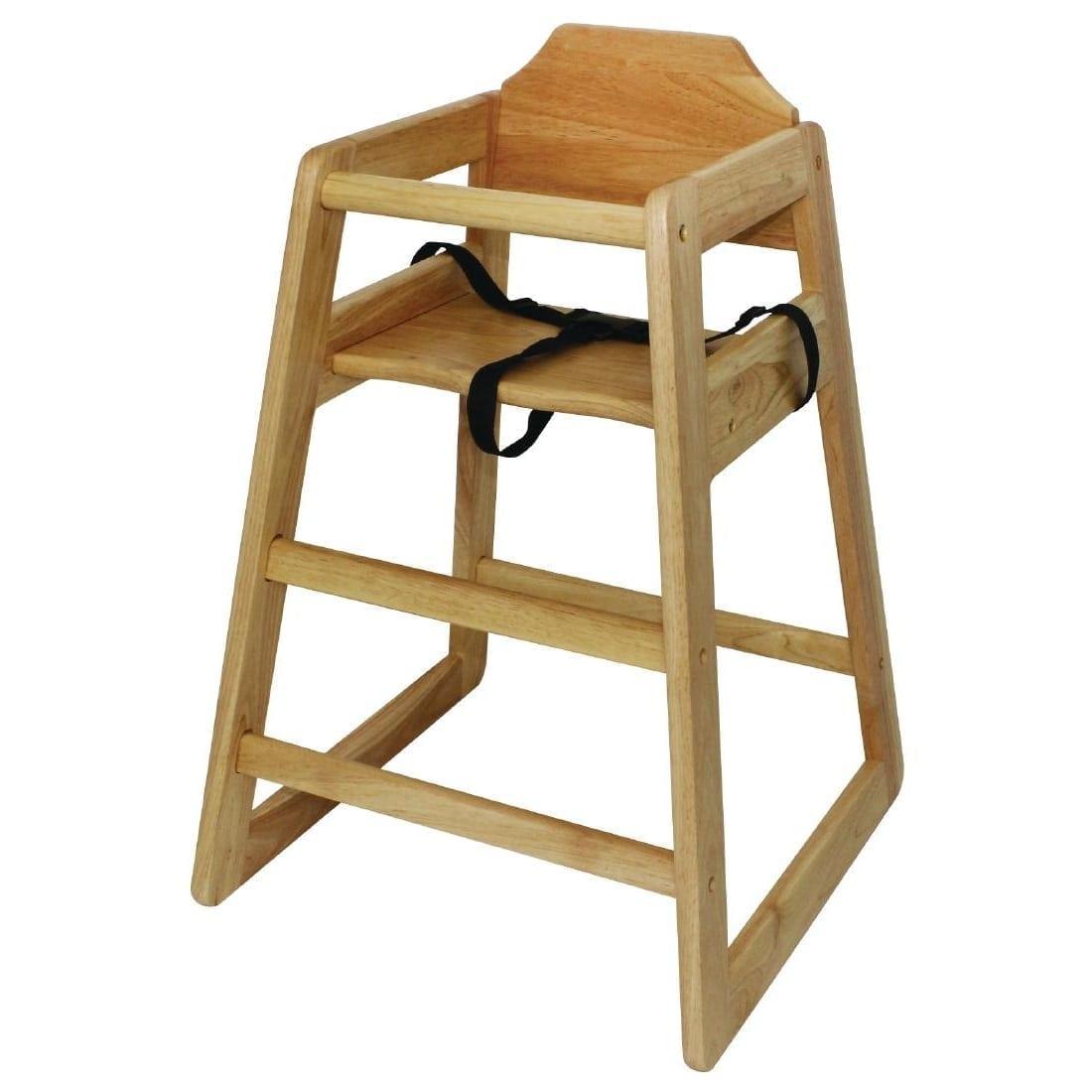 Bolero Wooden Highchair (Natural Finish)-0