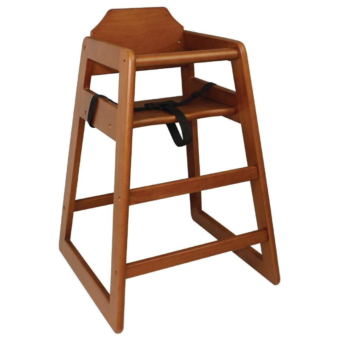 Bolero Wooden Highchair (Dark Wood Finish)-0