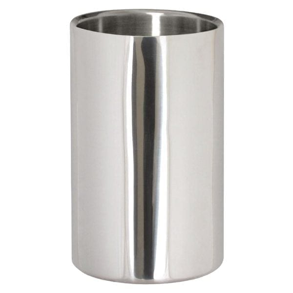 """Double Wall Wine Cooler Polished Stainless Steel - 200x120mm 8x4.75""""-0"""