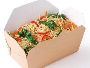 Rectangular Multi Food Carton Kraft - 58x185x103mm (Pack 250)-0