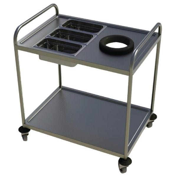 Craven Two Tier Waste & Cutlery Trolley