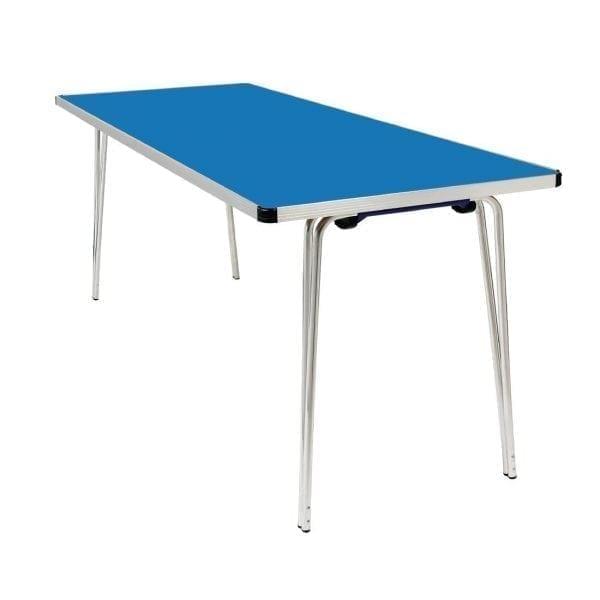 Contour Folding Table (Blue) - 1830x685x698mm (Direct)-0