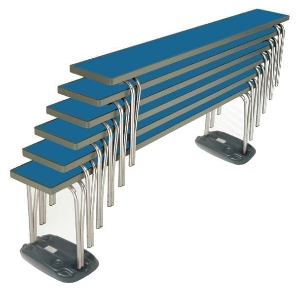 Contour Stacking Bench (Blue) - 1830x254x432mm (Direct)-0