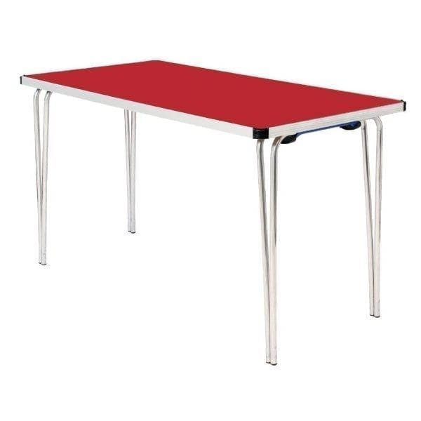 Contour Folding Table (Red) - 1220x685x698mm (Direct)-0