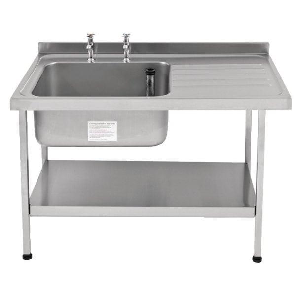 Sissons St/St Sink 1500mm L/H Bowl & taps R/H Drainer Midi Range F/Asmb(Direct)-0