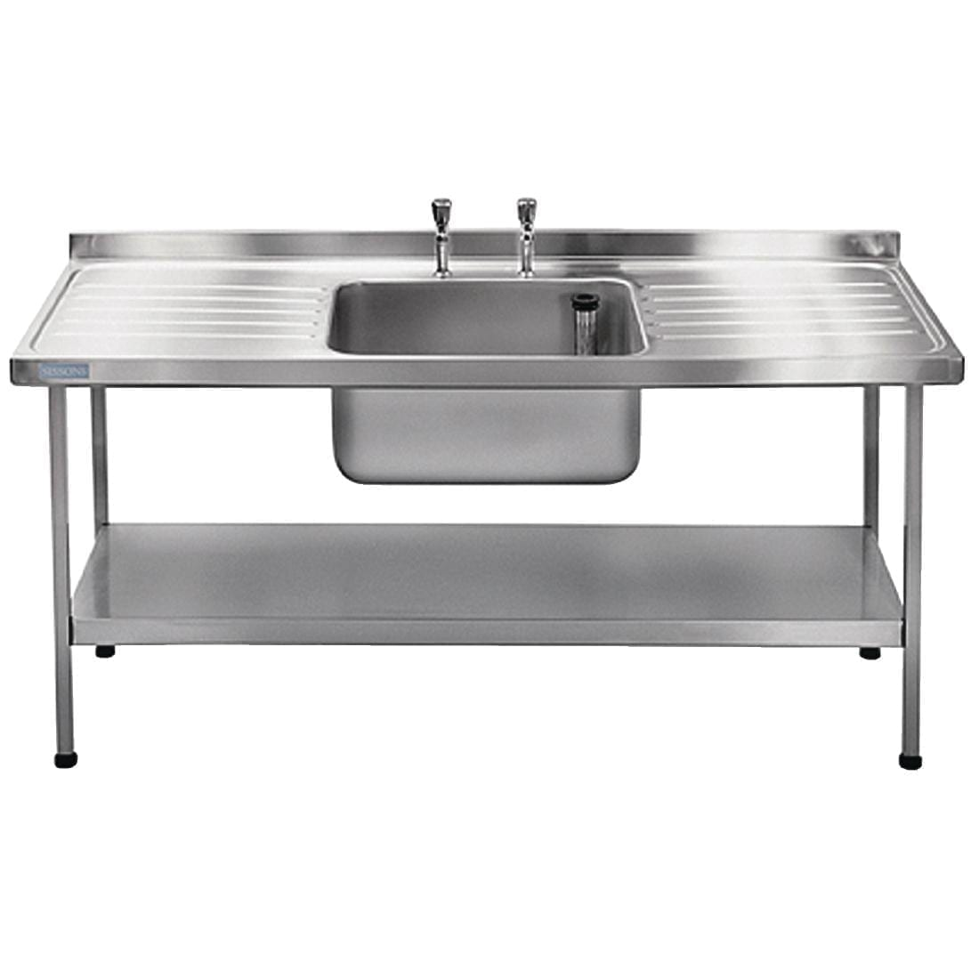 Sissons Centre Bowl & taps Double Drainer Midi Range St/St 1800mm F/Asmb(Direct)-0