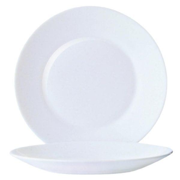 "Arc Opal Restaurant Wide Rim Plate - 254mm 10"" (Box 6)-0"