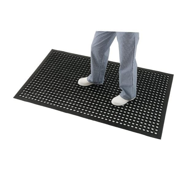 "Jantex Rubber Anti-Fatigue Mat - 900x1500mm 35x39""-0"