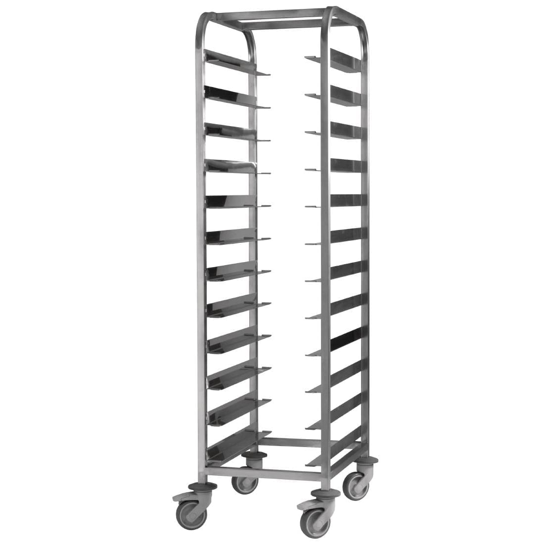 EAIS St/St Clearing Trolley 12 Tray Capacity) (Direct)-0