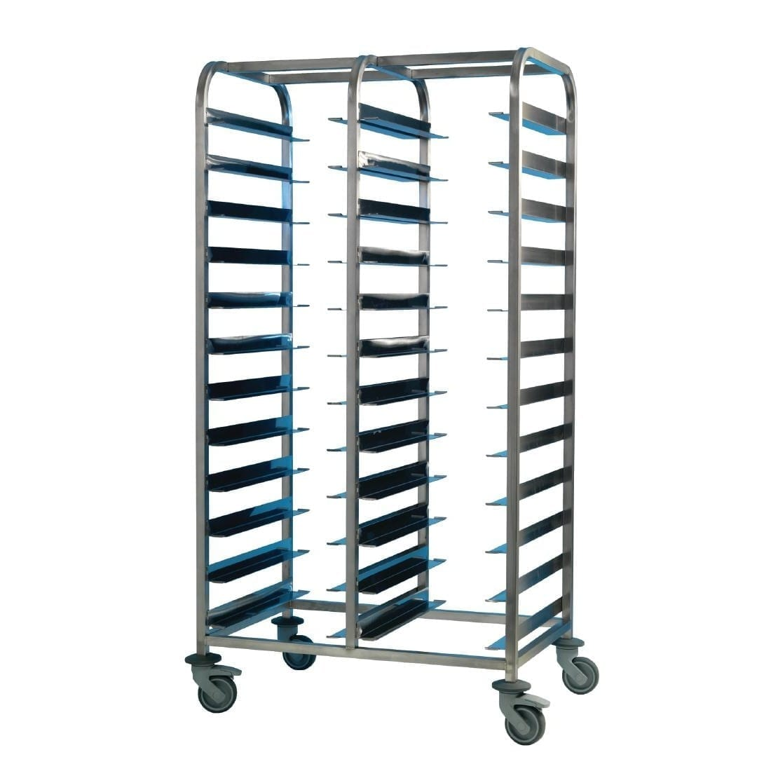 EAIS St/St Clearing Trolley 24 Tray Capacity) (Direct)-0