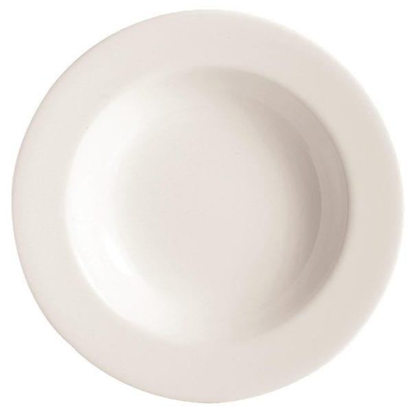 "C&S Embassy White Deep Plate - 9"" 230mm (Box 24) (B2B)-0"