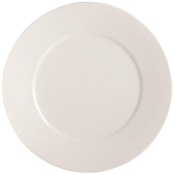 "C&S Embassy White Flat Plate - 10.25"" 260mm (Box 24) (B2B)-0"