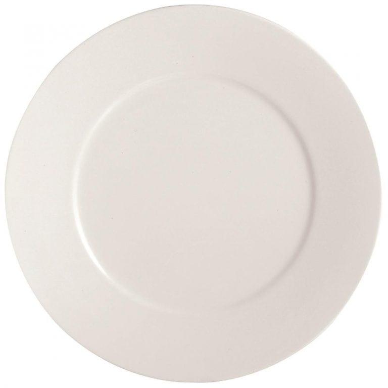 "C&S Embassy White Flat Plate - 11"" 280mm (Box 24) (B2B)-0"