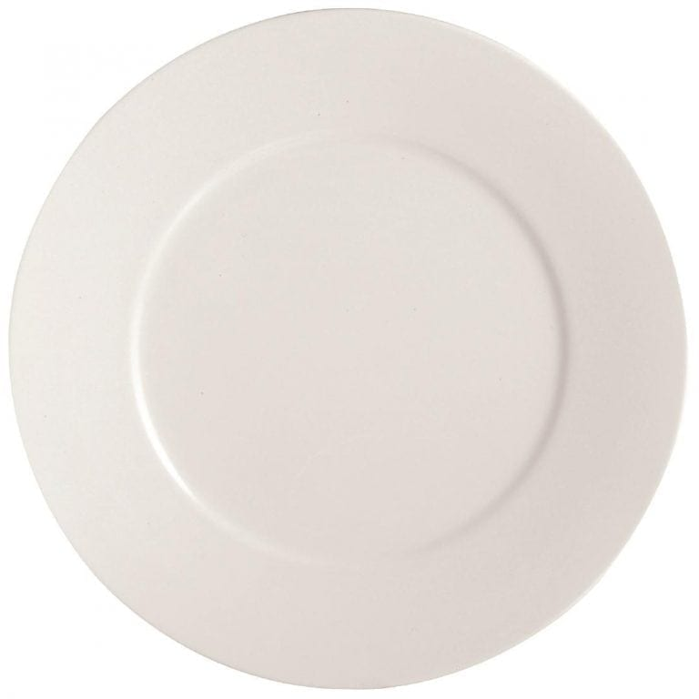 "C&S Embassy White Flat Plate - 12"" 310mm (Box 12) (B2B)-0"