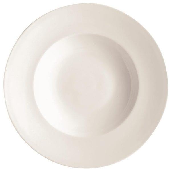 """C&S Embassy White Pasta Plate - 12"""" 310mm (Box 12) (B2B)-0"""