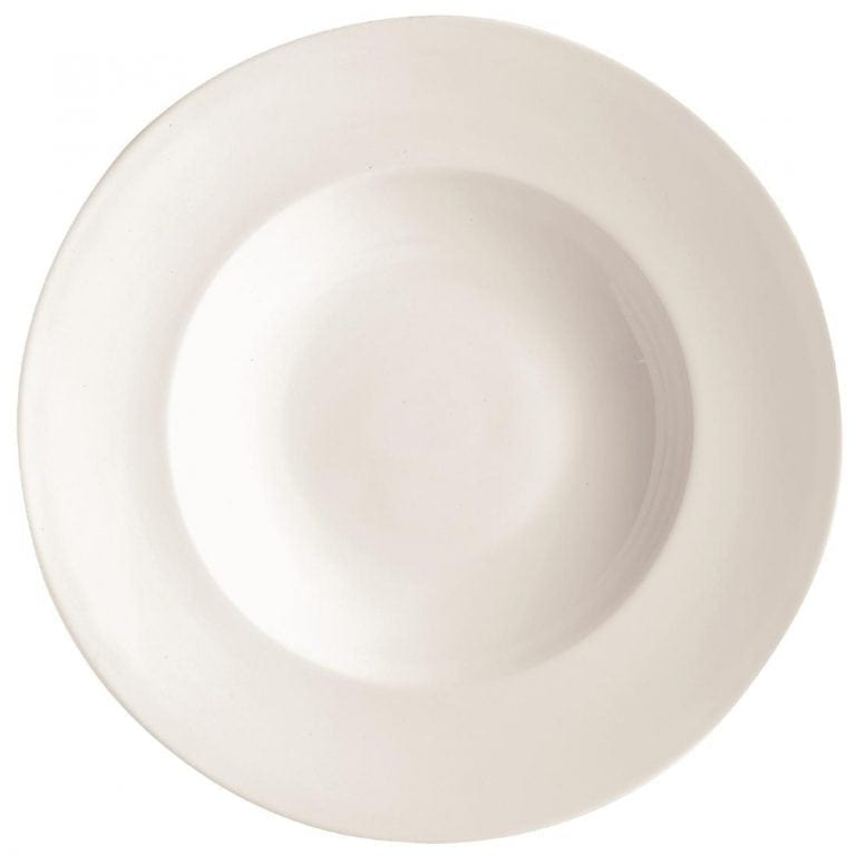 "C&S Embassy White Pasta Plate - 12"" 310mm (Box 12) (B2B)-0"