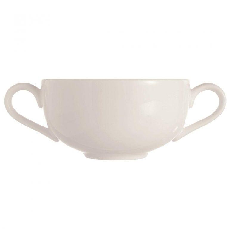 C&S Embassy White Soup Cup - 9oz 270ml (Box 24) (B2B)-0