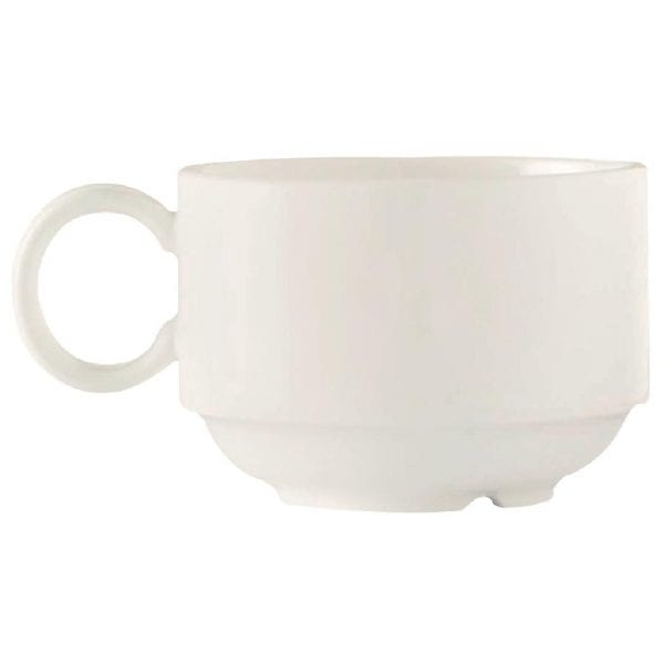 C&S Embassy White Stackable Cup - 8 3/4oz 250ml (Box 24) (B2B)-0