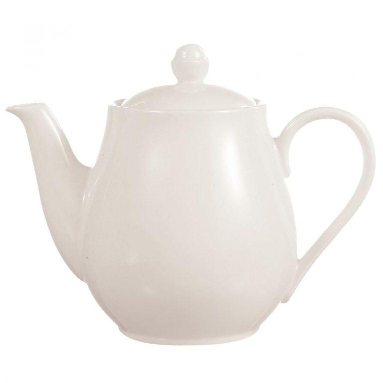C&S Embassy White Teapot - 26.5oz 750ml (Box 8) (B2B)-0