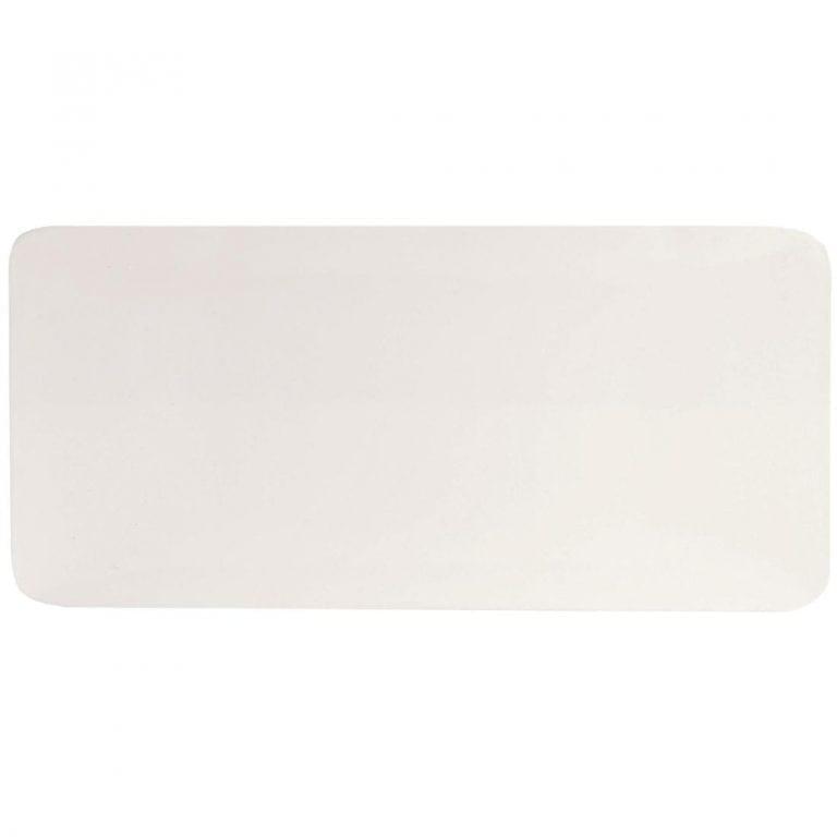 "C&S Purity Ultra Flat Oblong Plate - 5 1/2x 2 1/2"" 140x65mm (Box 24) (B2B)-0"