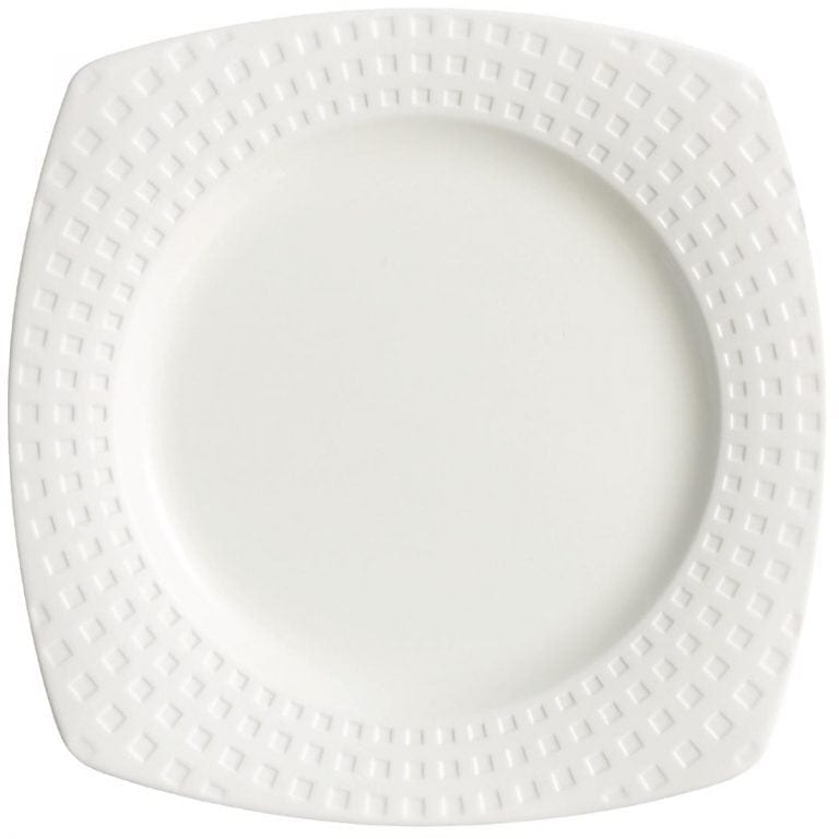 "C&S Satinique Square Dinner Plate - 10"" 255mm (Box 24) (B2B)-0"