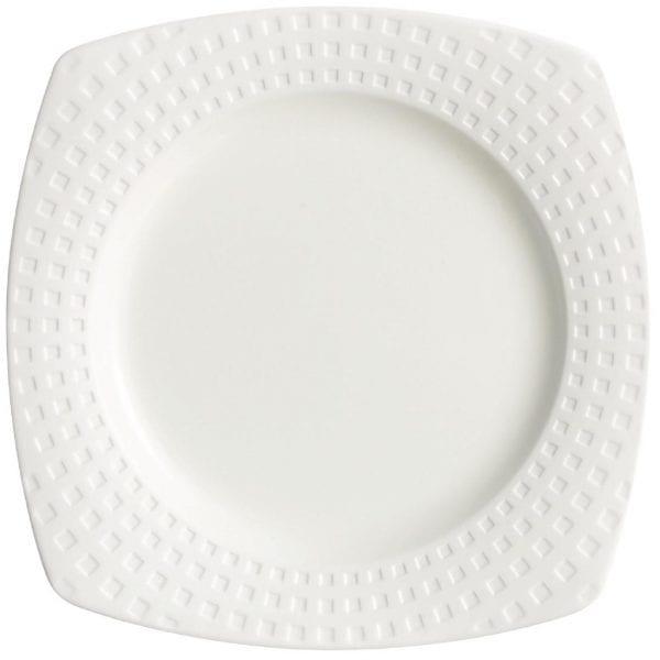 "C&S Satinique Square Salad/Dessert Plate - 8 1/4"" 215mm (Box 24) (B2B)-0"