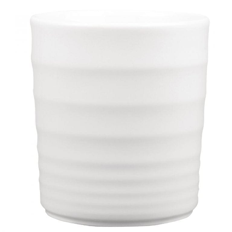 Churchill Bit on the Side Ripple Deli Jar White - 110mm 18oz (Box 4) (Direct)-0