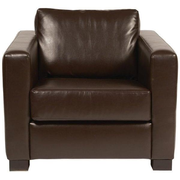 Bolero Faux Leather Armchair Dark Brown (Direct)-0