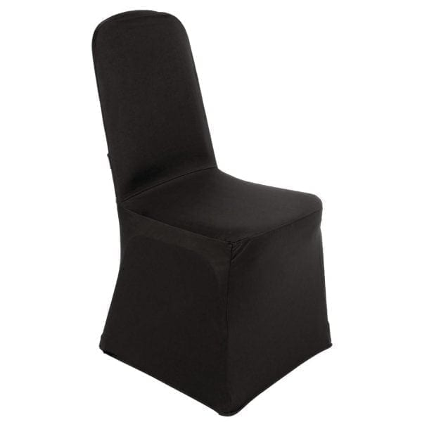 Bolero Banquet Chair Poly Jersey Covers Black-0