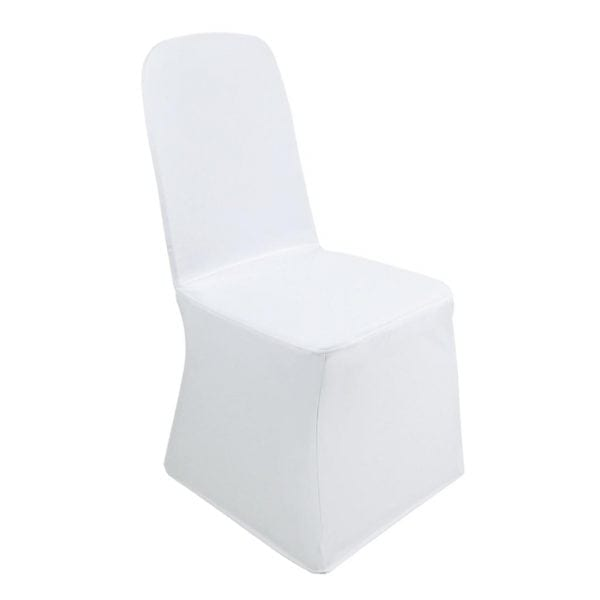 Bolero Banquet Chair Poly Jersey Covers White-0