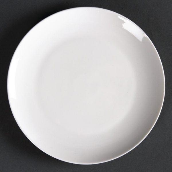 """Lumina Fine China Coupe Plate Round - 152mm 6"""" (Box 6)-0"""