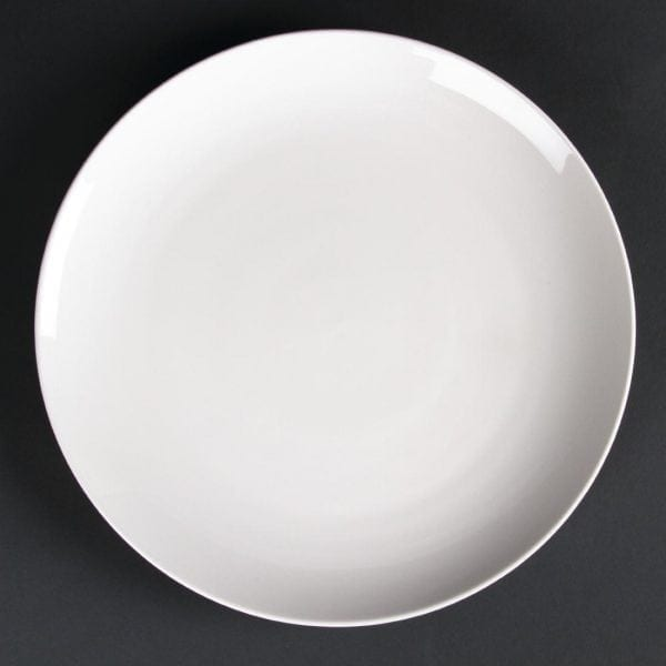 "Lumina Fine China Coupe Plate Round - 12"" 305mm (Box 2)-0"