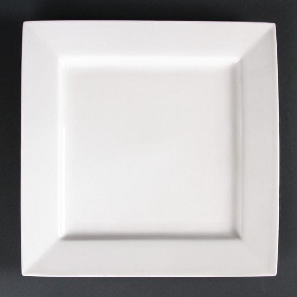 "Lumina Fine China Square Plate - 265mm 10 1/2"" (Box 4)-0"