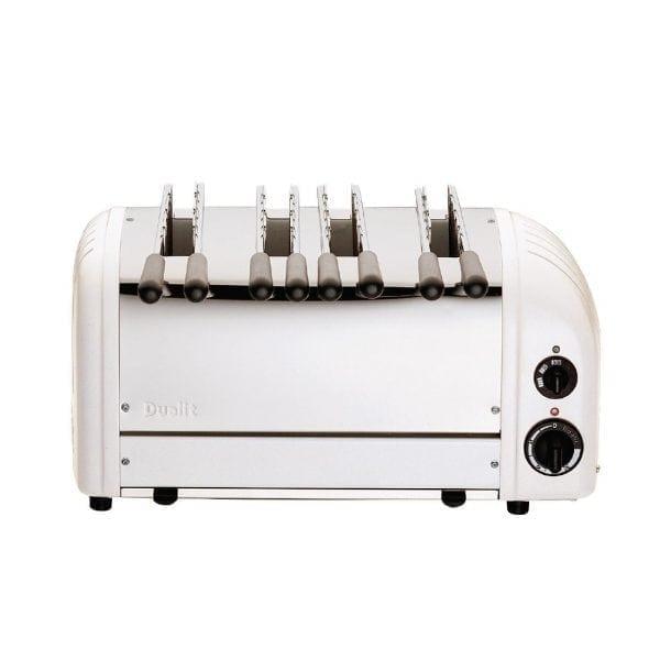 Dualit - White 4 Slot Sandwich Toaster-0