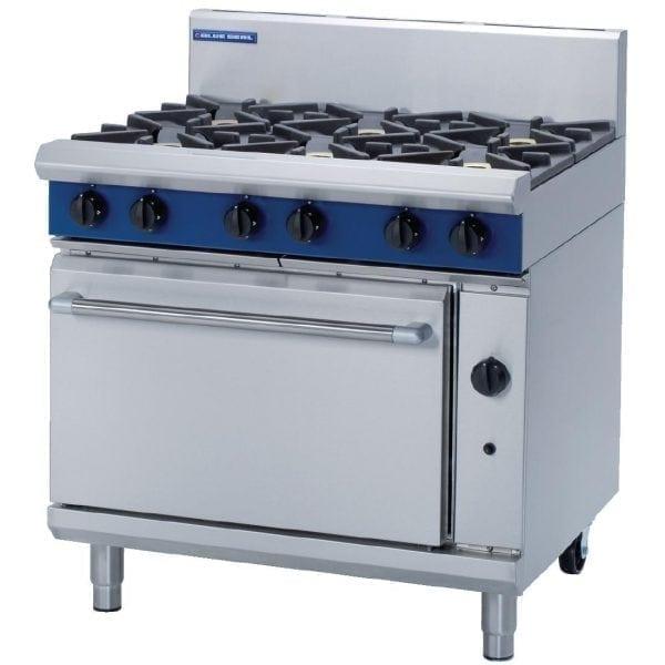 Blue Seal Evolution 6 Burner Static Oven LPG - 900mm (Direct)-0