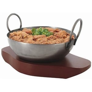 "Wooden Base for F451 Kahari Dish - 6""-0"