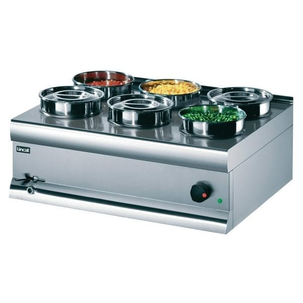 Lincat Bain Marie Wet Heat includes 6 S/S Containers - 290Hx750Wx600mmD (Direct)-0