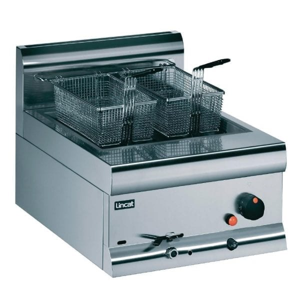 Lincat Single Counter Top Fryer - Prop Gas 2 Baskets 8.5Ltr 11.3kW (Direct)-0