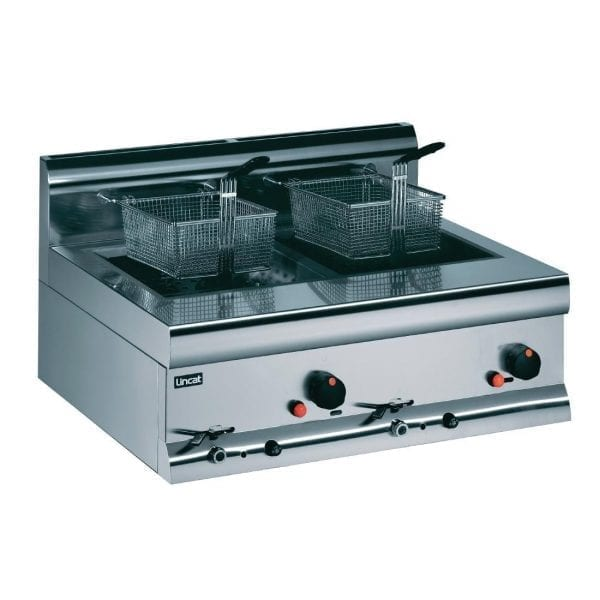 Lincat Gas Counter Top Fryer - Prop Gas Twin Tank 2 Baskets 16kW (Direct)-0