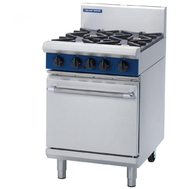 Blue Seal Evolution 4 Burner Static Oven Nat Gas - 600mm (Direct)-0
