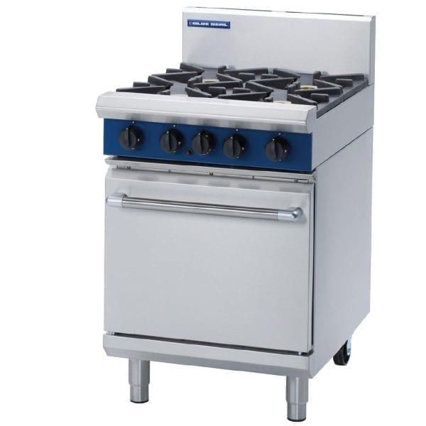 Blue Seal Evolution 4 Burner Static Oven LPG - 600mm (Direct)-0