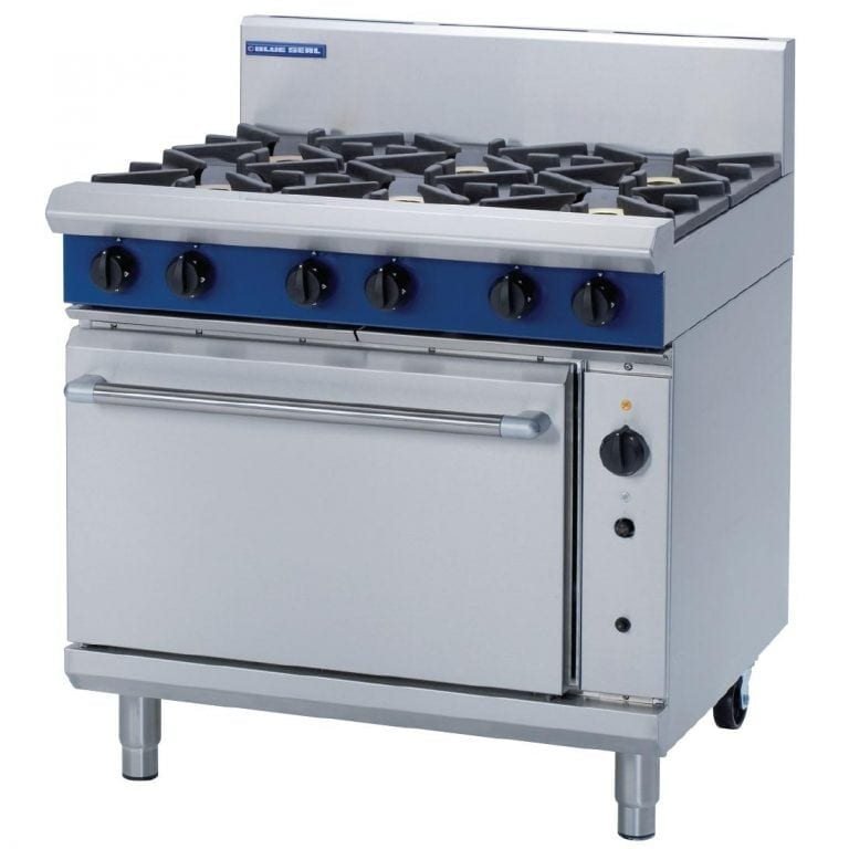 Blue Seal Evolution 6 Burner Convection Oven Nat Gas - 900mm (Direct)-0