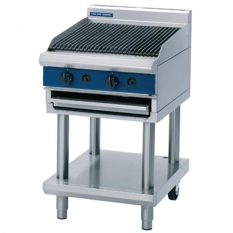 Blue Seal Evolution Chargrill with Leg Stand LPG - 600mm (Direct)-0