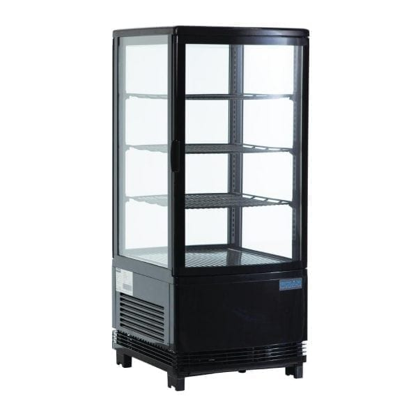 Polar Chilled Display Cabinet Black - 68Ltr-0