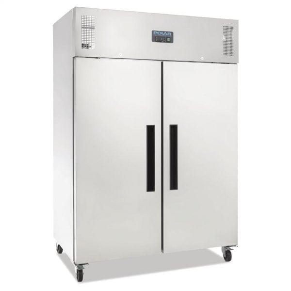Polar Gastro REFRIGERATOR 2 Door Upright St/St - 1200L (UK)-0
