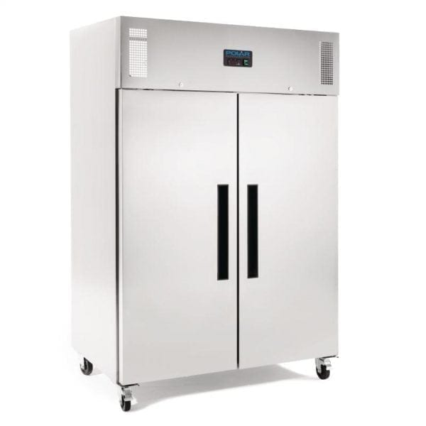Polar Gastro FREEZER 2 Door Upright St/St - 1200Ltr (UK)-0