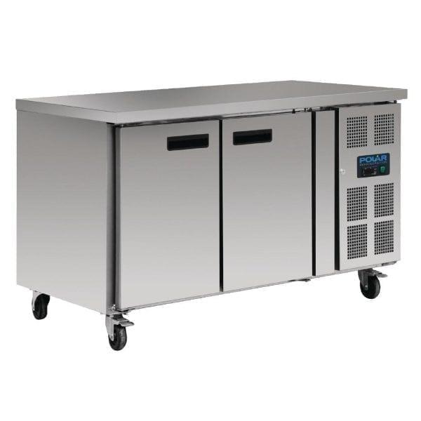 Polar Counter Gastro REFRIGERATOR 2 Doors - 282Ltr (UK)-0