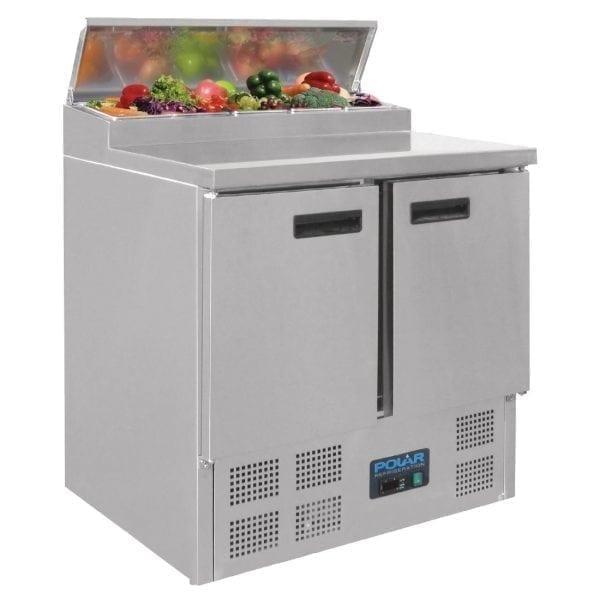 Polar Refrigerated 2 Door Counter Salad/Pizza Preparation (UK)-0