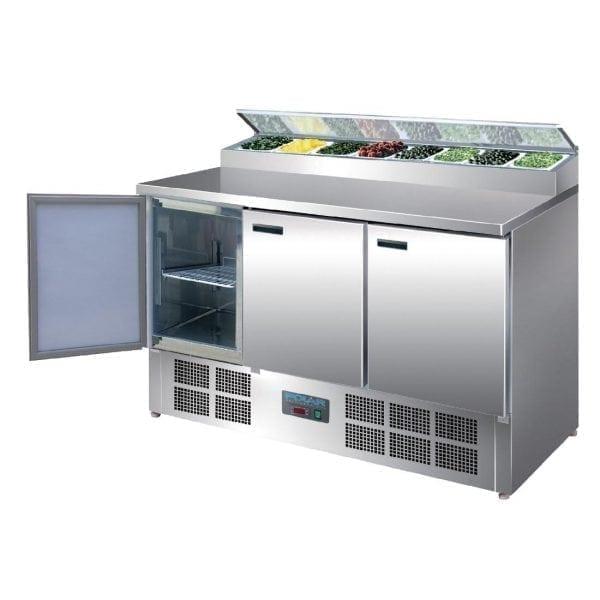 Polar Refrigerated 3 Door Counter Salad/Pizza Preparation (UK)-0